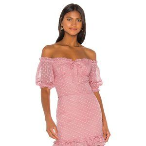 Privacy Please Celine Top in Peony Pink